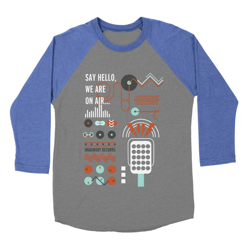 Music radio Vinyl Men's Baseball Triblend T-Shirt by virbia's Artist Shop