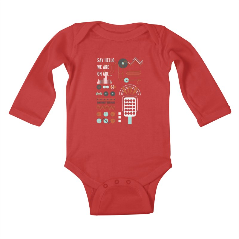 Music radio Vinyl Kids Baby Longsleeve Bodysuit by virbia's Artist Shop