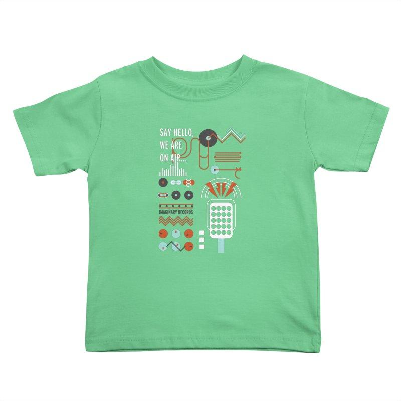 Music radio Vinyl Kids Toddler T-Shirt by virbia's Artist Shop