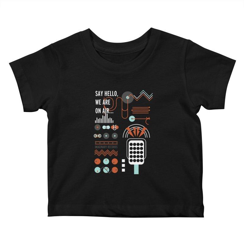 Music radio Vinyl Kids Baby T-Shirt by virbia's Artist Shop