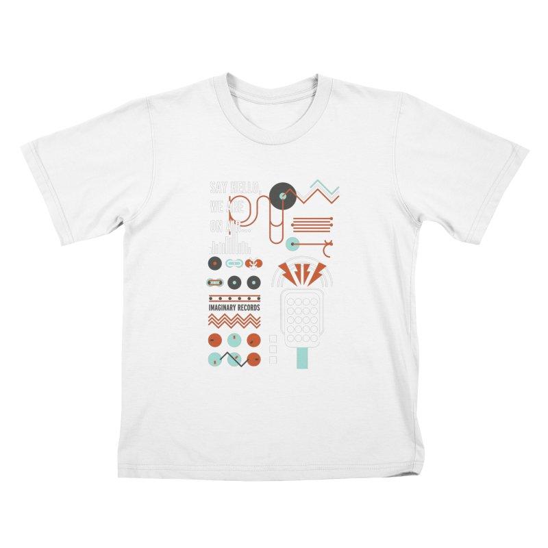 Music radio Vinyl Kids T-Shirt by virbia's Artist Shop