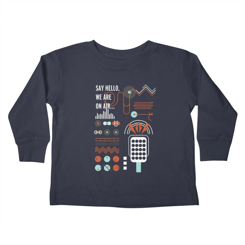 Music radio Vinyl Kids Toddler Longsleeve T-Shirt by virbia's Artist Shop