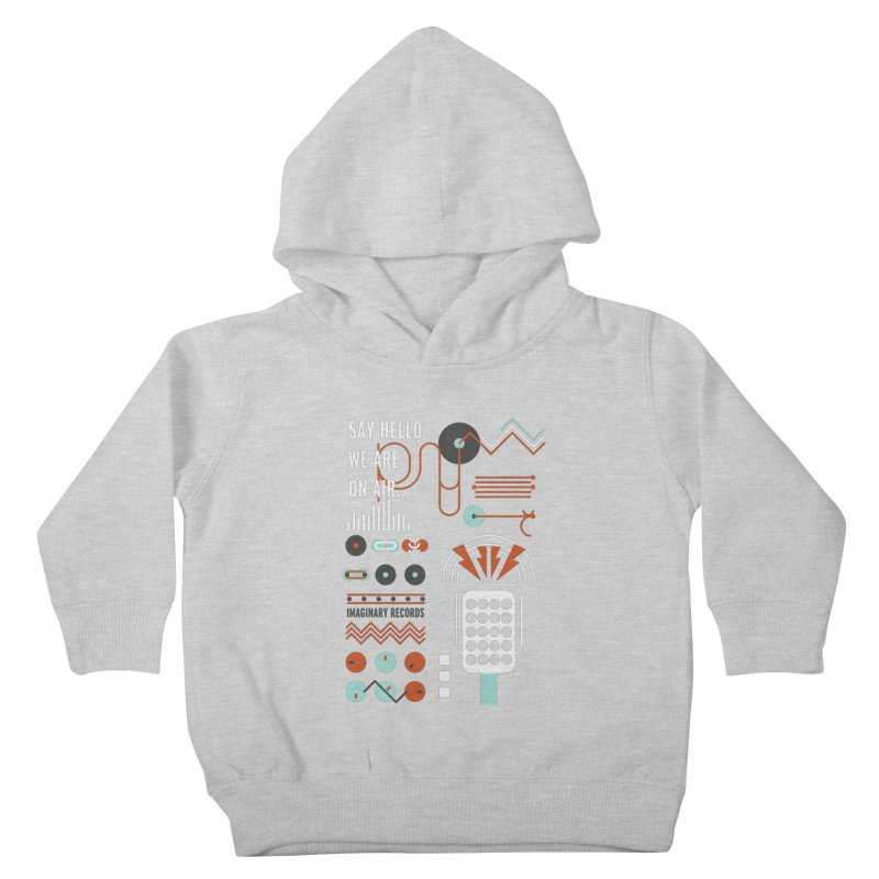Music radio Vinyl Kids Toddler Pullover Hoody by virbia's Artist Shop