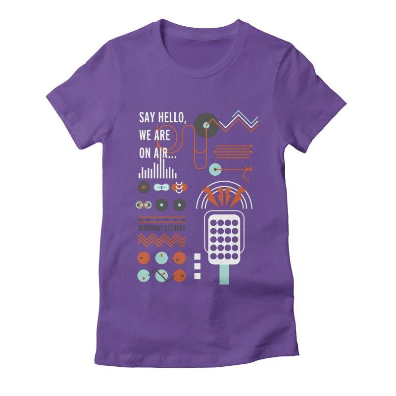 Music radio Vinyl Women's Fitted T-Shirt by virbia's Artist Shop