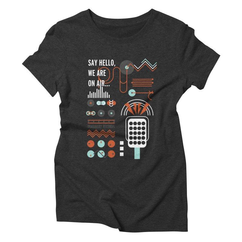 Music radio Vinyl Women's Triblend T-Shirt by virbia's Artist Shop
