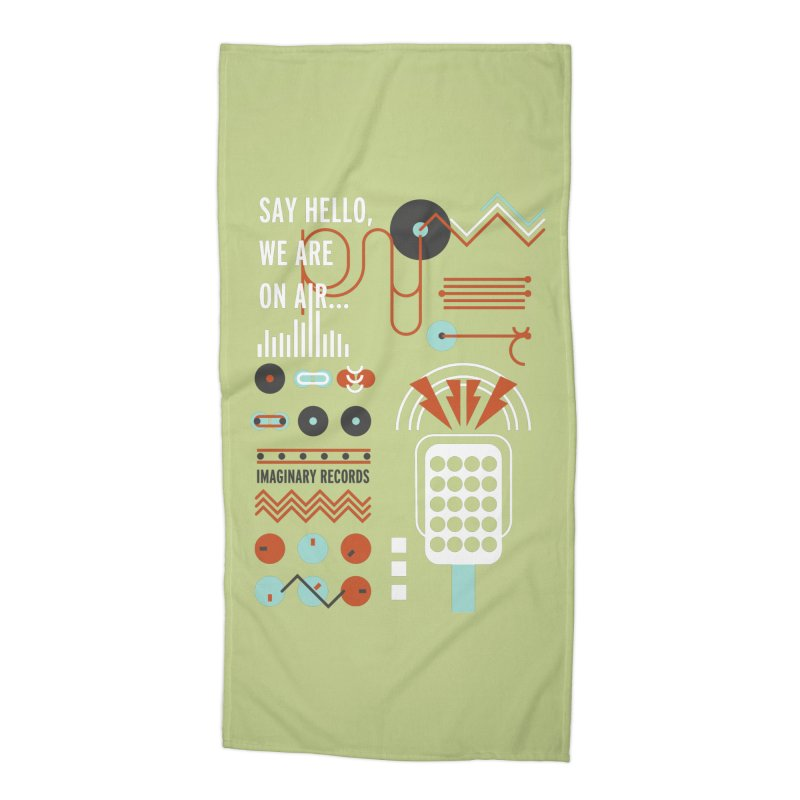 Music radio Vinyl Accessories Beach Towel by virbia's Artist Shop