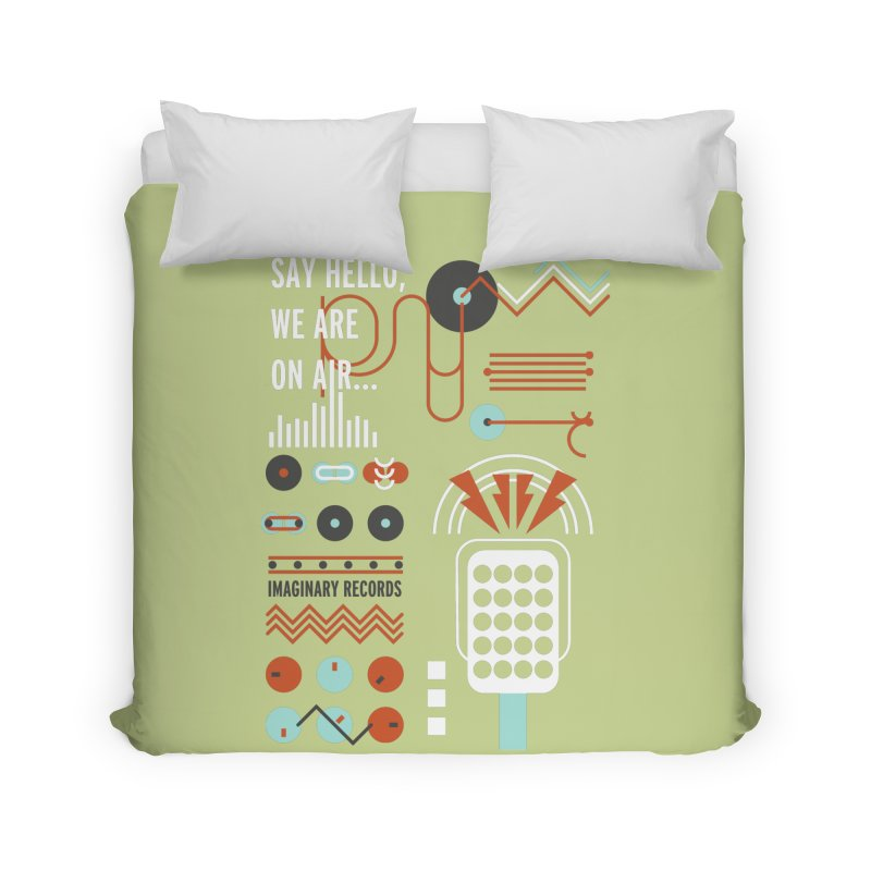 Music radio Vinyl Home Duvet by virbia's Artist Shop