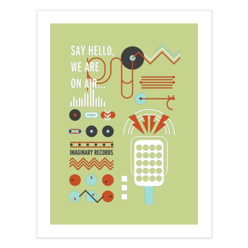 Music radio Vinyl Home Fine Art Print by virbia's Artist Shop