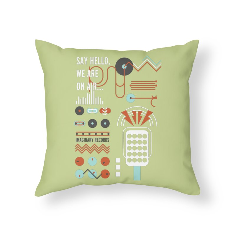 Music radio Vinyl Home Throw Pillow by virbia's Artist Shop