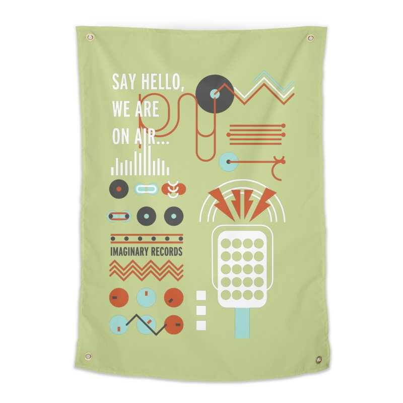 Music radio Vinyl Home Tapestry by virbia's Artist Shop