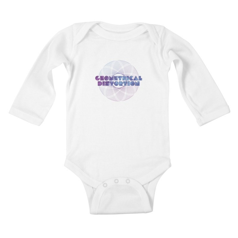 Geometrical distortion Kids Baby Longsleeve Bodysuit by virbia's Artist Shop