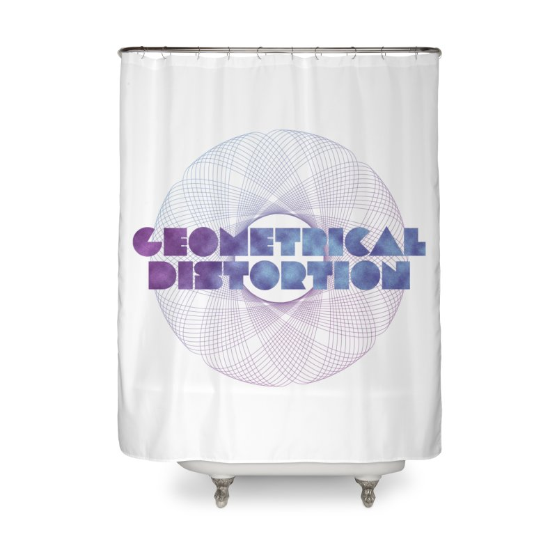 Geometrical distortion Home Shower Curtain by virbia's Artist Shop