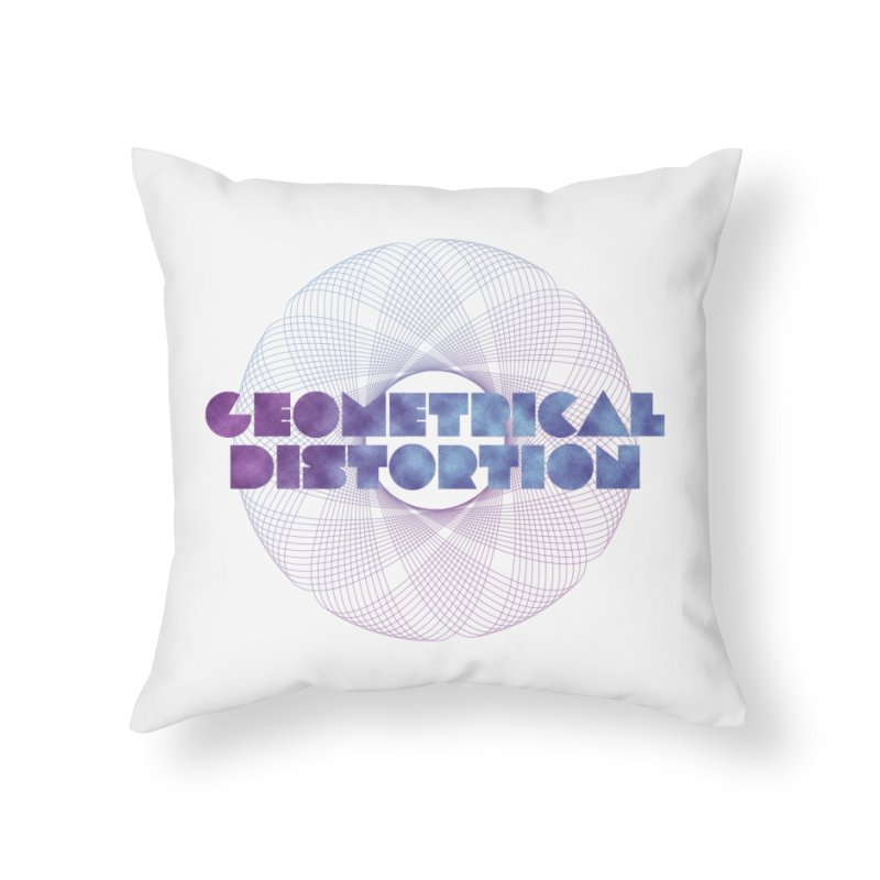 Geometrical distortion Home Throw Pillow by virbia's Artist Shop