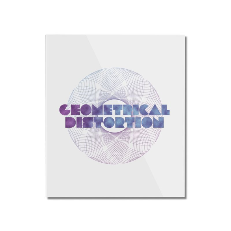 Geometrical distortion Home Mounted Acrylic Print by virbia's Artist Shop