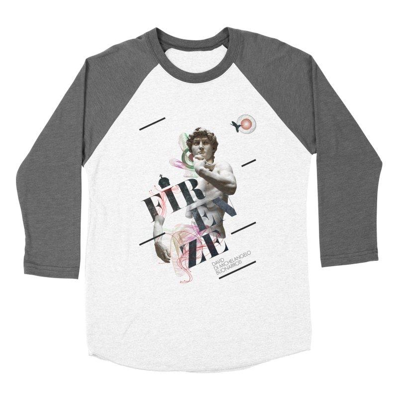 Firenze Michelangelo Women's Baseball Triblend Longsleeve T-Shirt by virbia's Artist Shop