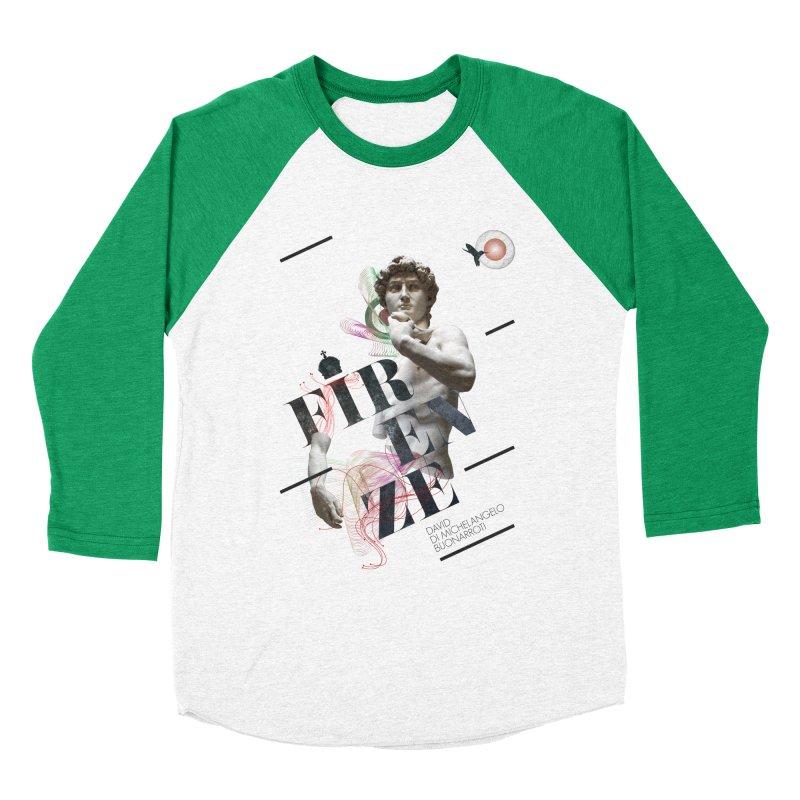 Firenze Michelangelo Women's Baseball Triblend T-Shirt by virbia's Artist Shop