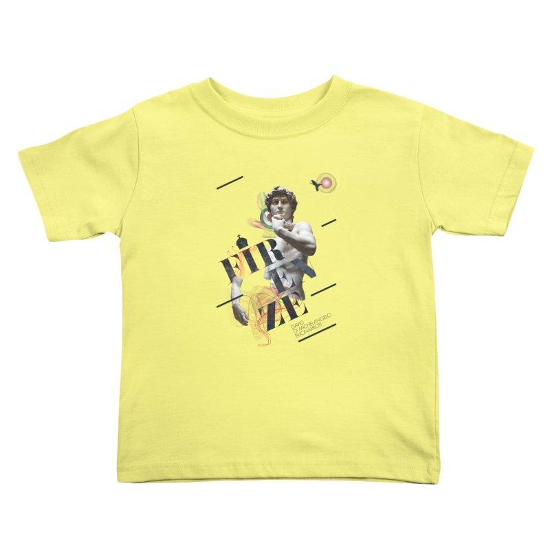 Firenze Michelangelo Kids Toddler T-Shirt by virbia's Artist Shop