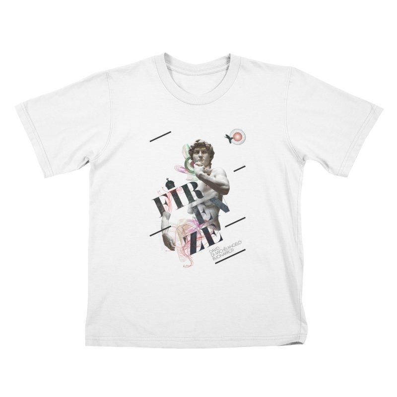 Firenze Michelangelo Kids T-Shirt by virbia's Artist Shop