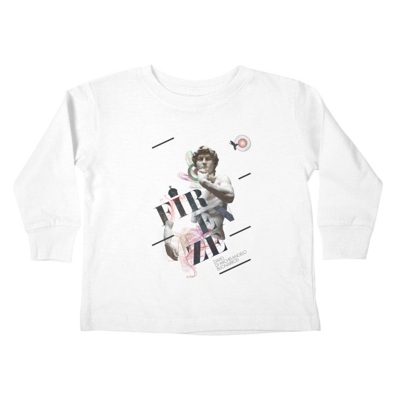 Firenze Michelangelo Kids Toddler Longsleeve T-Shirt by virbia's Artist Shop