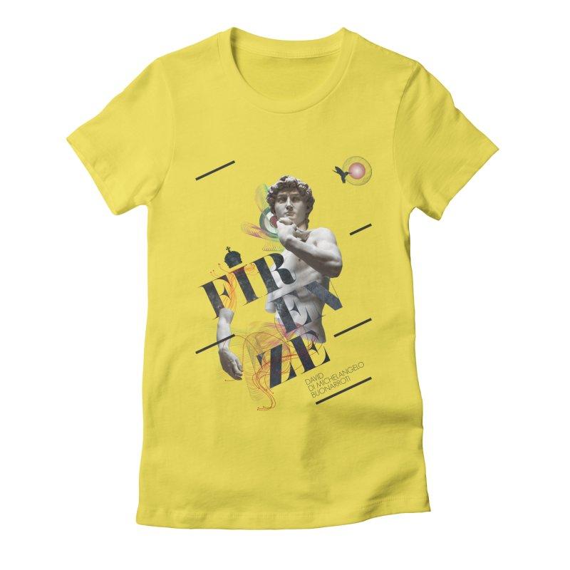 Firenze Michelangelo Women's Fitted T-Shirt by virbia's Artist Shop