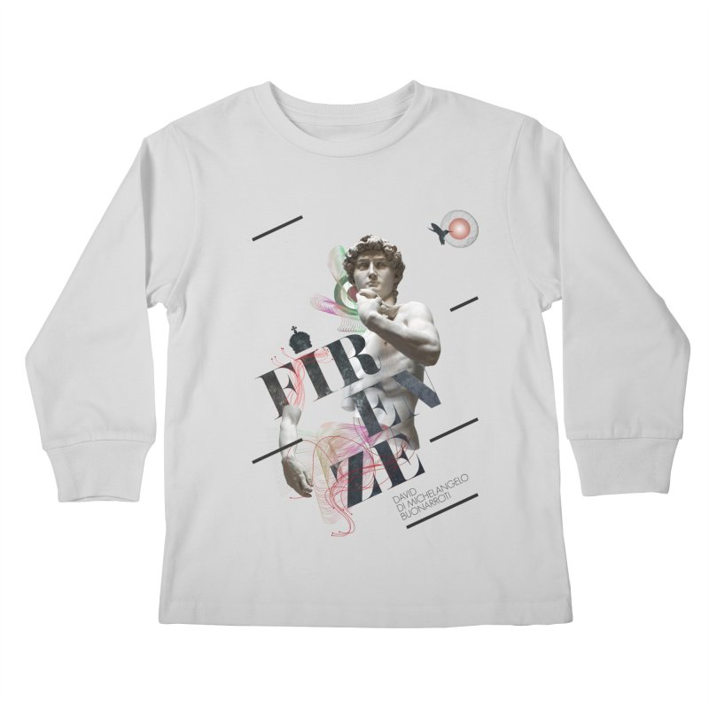 Firenze Michelangelo Kids Longsleeve T-Shirt by virbia's Artist Shop