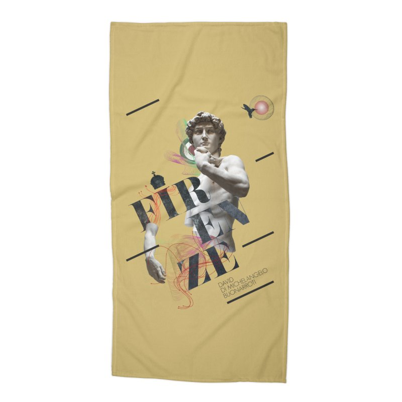 Firenze Michelangelo Accessories Beach Towel by virbia's Artist Shop