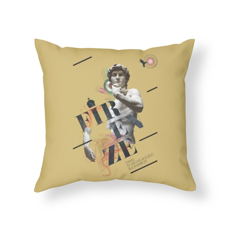 Firenze Michelangelo Home Throw Pillow by virbia's Artist Shop