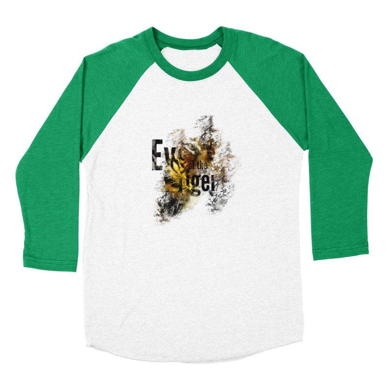 Eye of the tiger Women's Baseball Triblend Longsleeve T-Shirt by virbia's Artist Shop