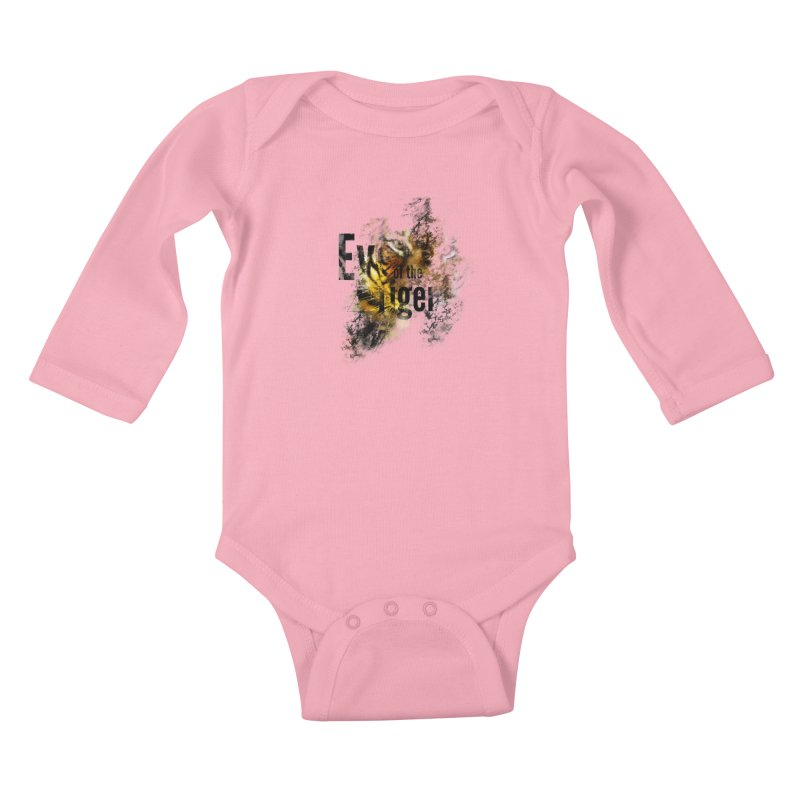 Eye of the tiger Kids Baby Longsleeve Bodysuit by virbia's Artist Shop