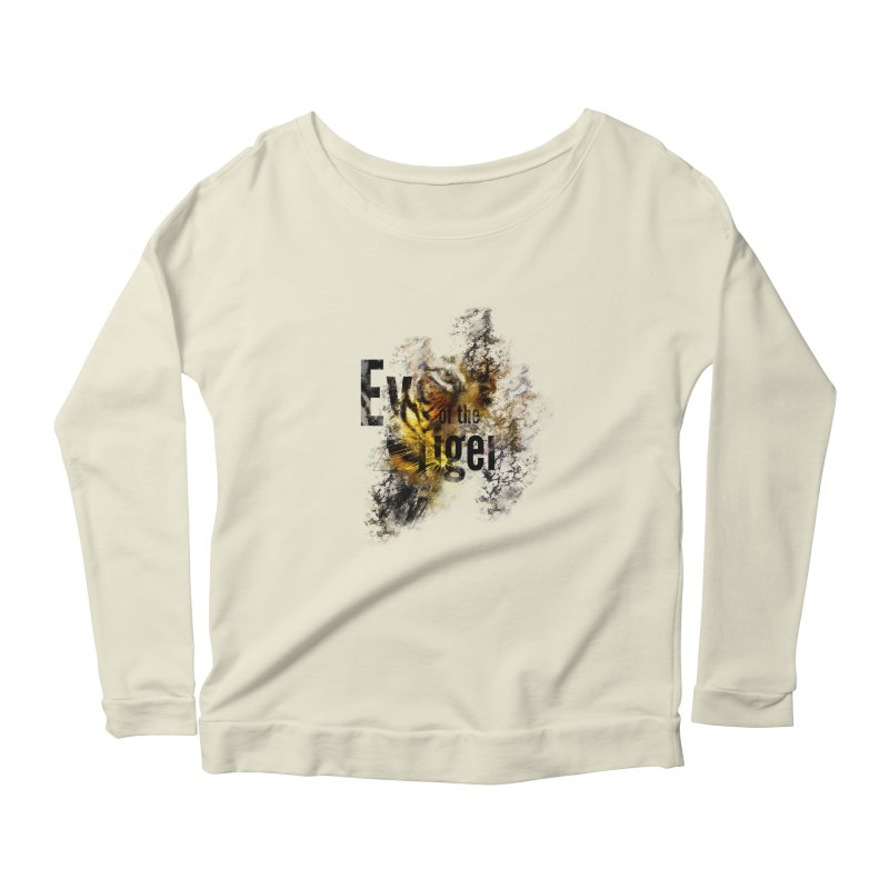 Eye of the tiger Women's Longsleeve Scoopneck  by virbia's Artist Shop