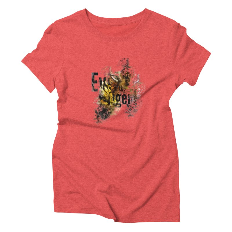 Eye of the tiger Women's Triblend T-Shirt by virbia's Artist Shop