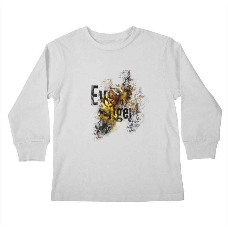 Eye of the tiger Kids Longsleeve T-Shirt by virbia's Artist Shop