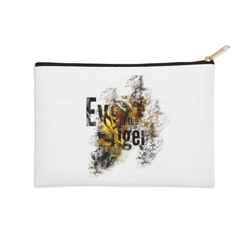 Eye of the tiger Accessories Zip Pouch by virbia's Artist Shop