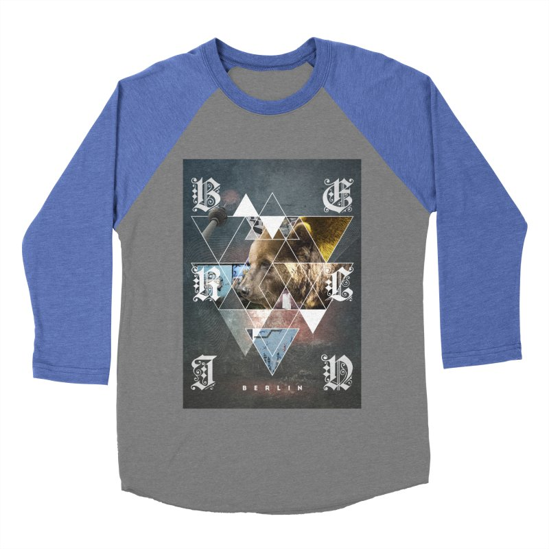 Berlin bear wall Women's Baseball Triblend Longsleeve T-Shirt by virbia's Artist Shop