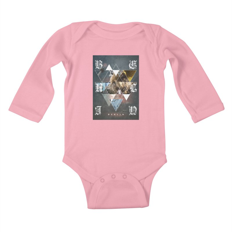 Berlin bear wall Kids Baby Longsleeve Bodysuit by virbia's Artist Shop