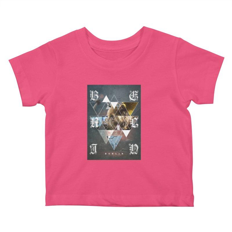 Berlin bear wall Kids Baby T-Shirt by virbia's Artist Shop