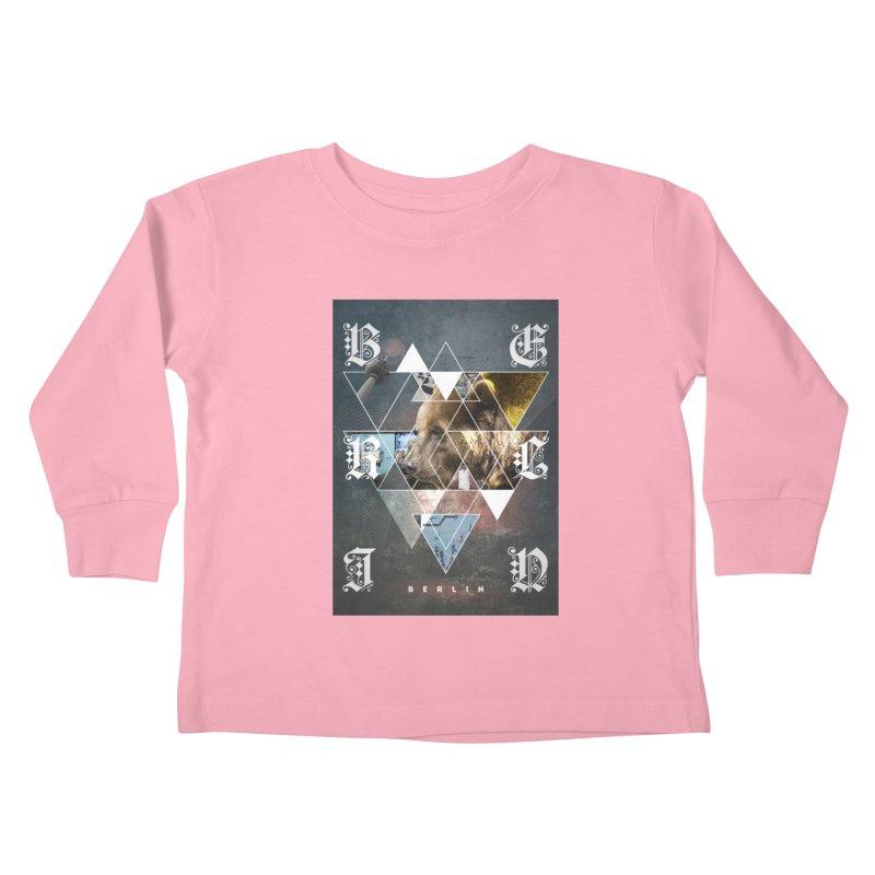 Berlin bear wall Kids Toddler Longsleeve T-Shirt by virbia's Artist Shop