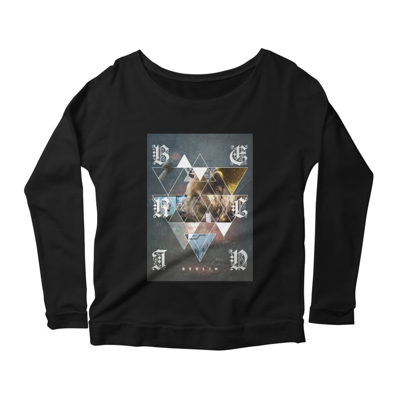 Berlin bear wall Women's Longsleeve Scoopneck  by virbia's Artist Shop