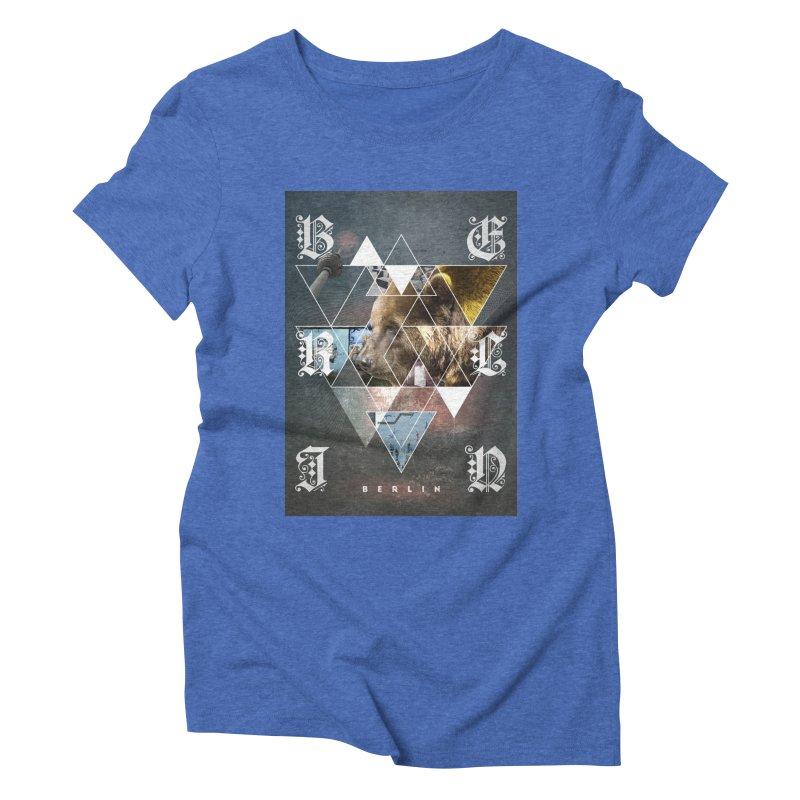 Berlin bear wall Women's Triblend T-Shirt by virbia's Artist Shop