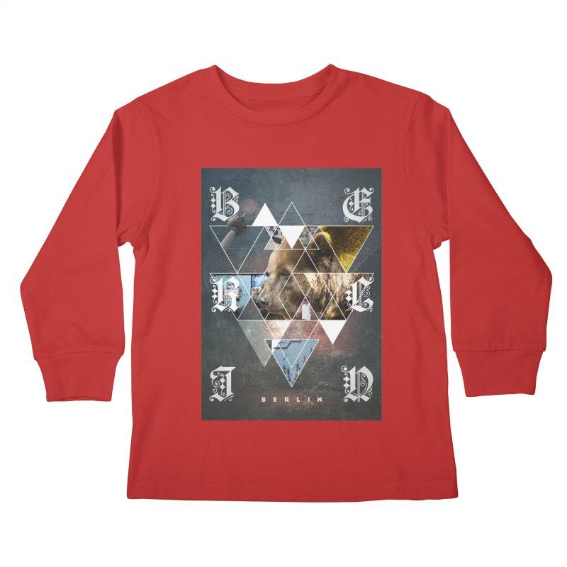 Berlin bear wall Kids Longsleeve T-Shirt by virbia's Artist Shop