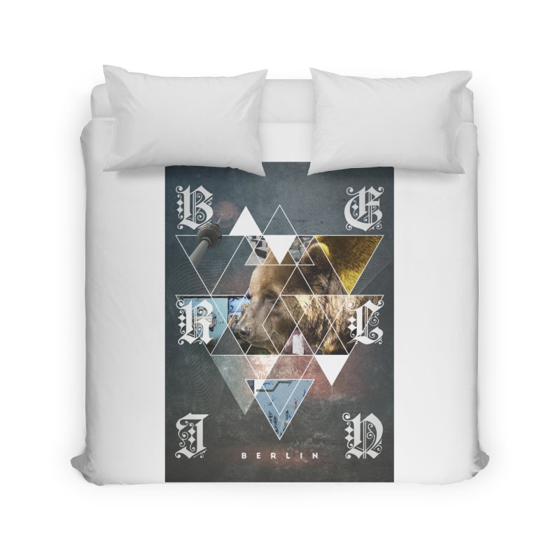 Berlin bear wall Home Duvet by virbia's Artist Shop