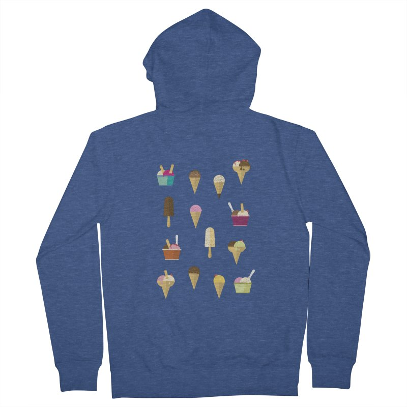 Sweet ice cream Men's French Terry Zip-Up Hoody by virbia's Artist Shop