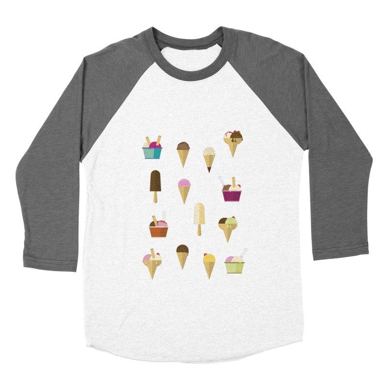 Sweet ice cream Women's Baseball Triblend Longsleeve T-Shirt by virbia's Artist Shop