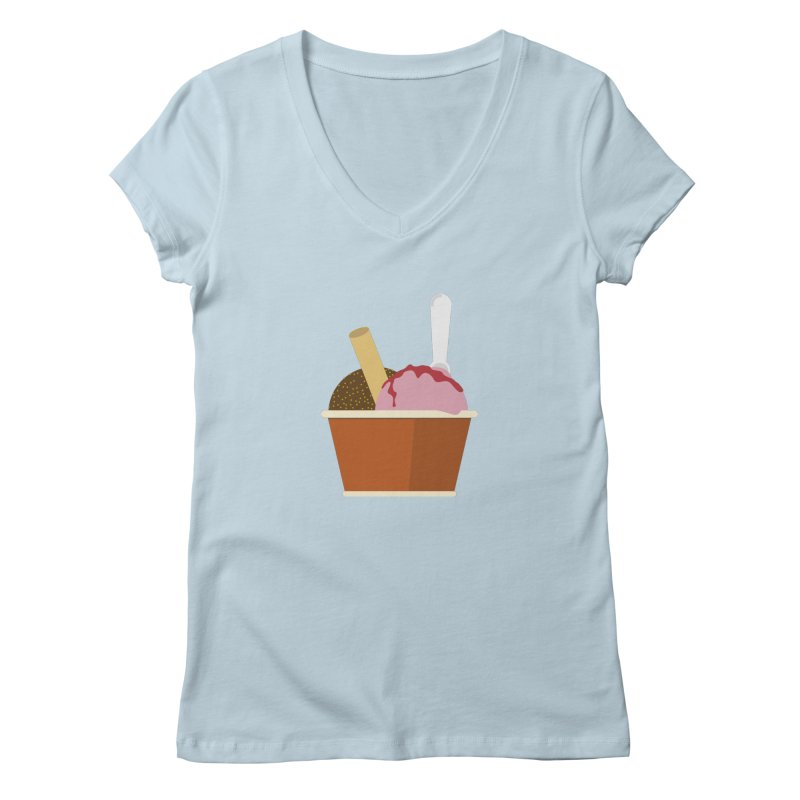 Sweet ice cream 10 Women's V-Neck by virbia's Artist Shop