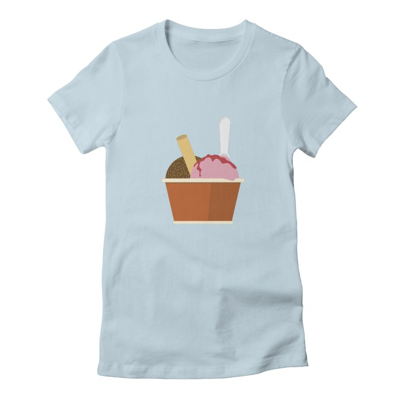 Sweet ice cream 10 Women's Fitted T-Shirt by virbia's Artist Shop
