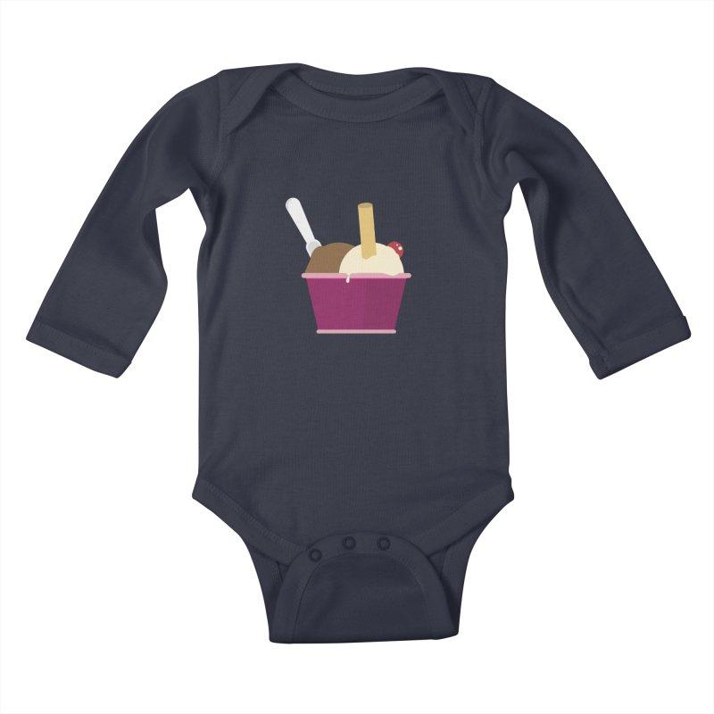Sweet ice cream 12 Kids Baby Longsleeve Bodysuit by virbia's Artist Shop