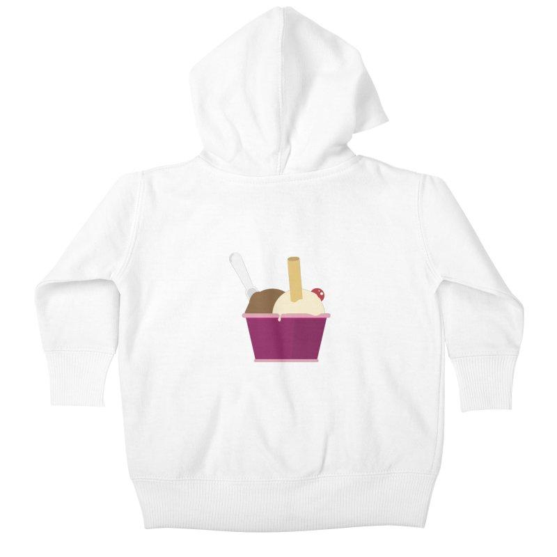 Sweet ice cream 12 Kids Baby Zip-Up Hoody by virbia's Artist Shop