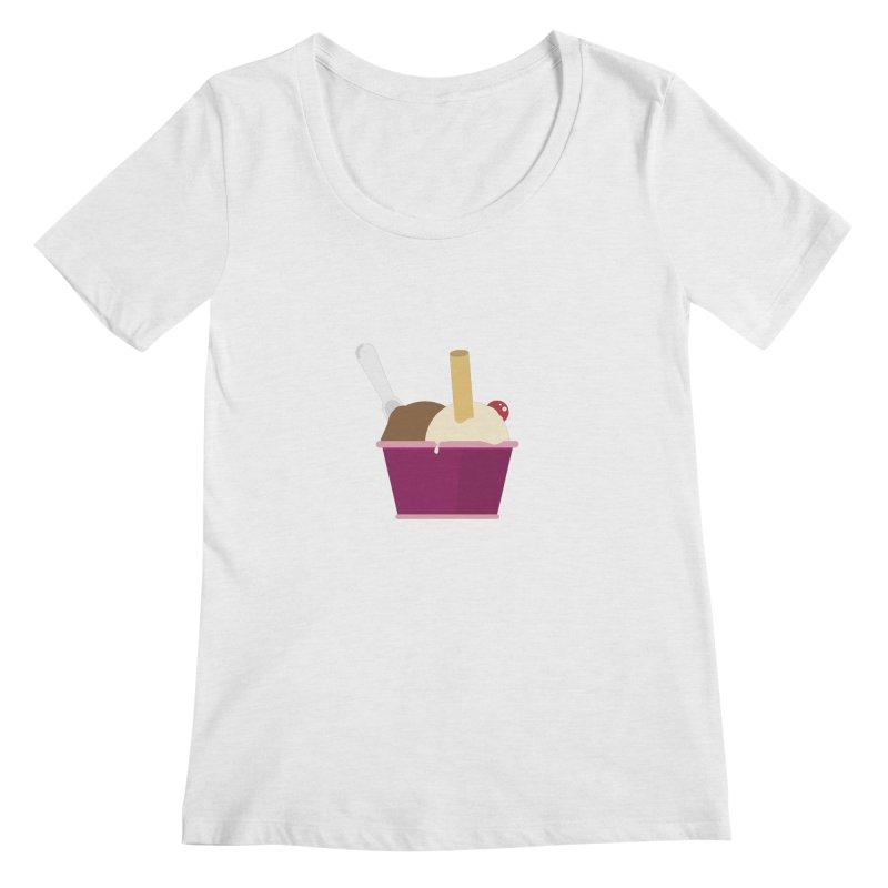 Sweet ice cream 12 Women's Scoop Neck by virbia's Artist Shop
