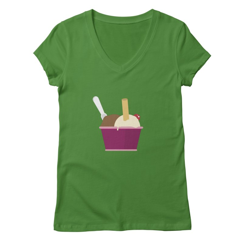 Sweet ice cream 12 Women's V-Neck by virbia's Artist Shop