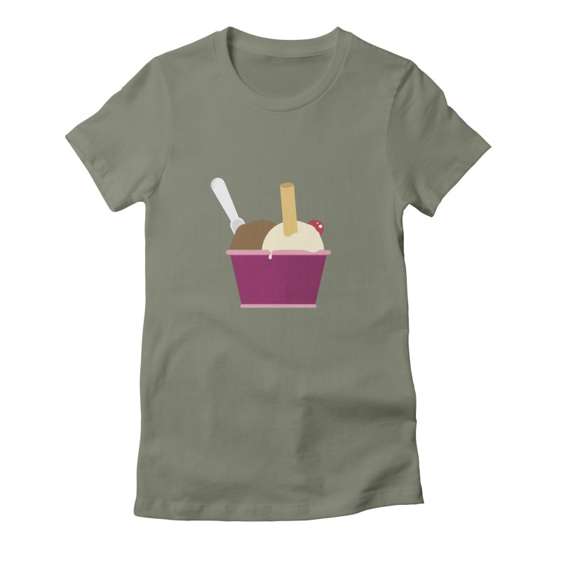 Sweet ice cream 12 Women's Fitted T-Shirt by virbia's Artist Shop